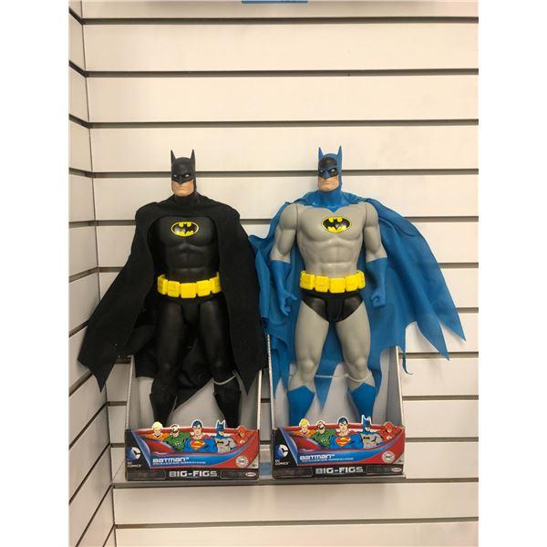 Pair of DC Comics 19in action figures - Batman w/ black cape & Batman w/ blue cape (Jakks Pacific in