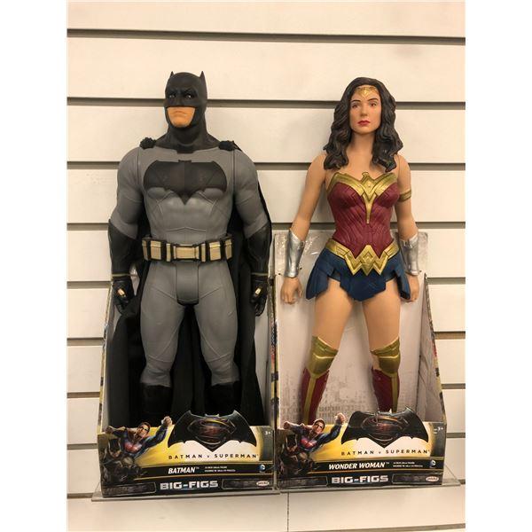 Pair of DC Comics Batman v Superman 19in action figures - Batman & Wonder Woman (Jakks Pacific in or