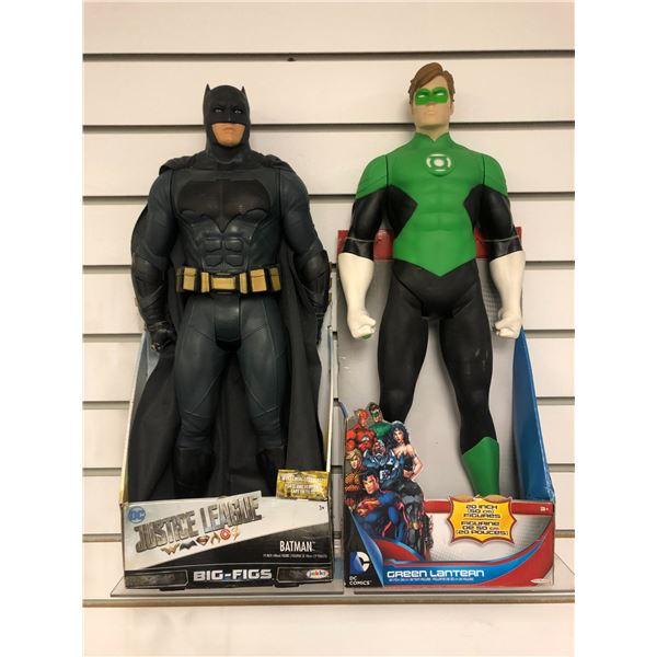 Pair of DC Comics 19in/ 20in action figures - Justice League Batman & Green Lantern (Jakks Pacific i