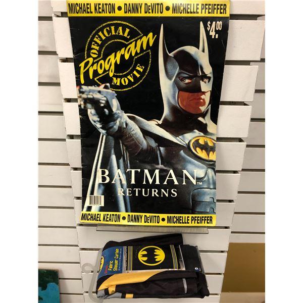 Batman Returns official movie program & Batman shower curtain