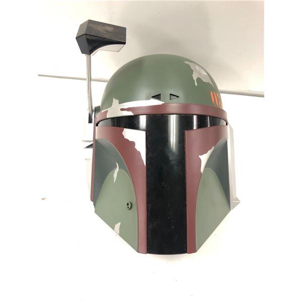 Lucas Films Star Wars genuine 3D light Boba Fett helmet