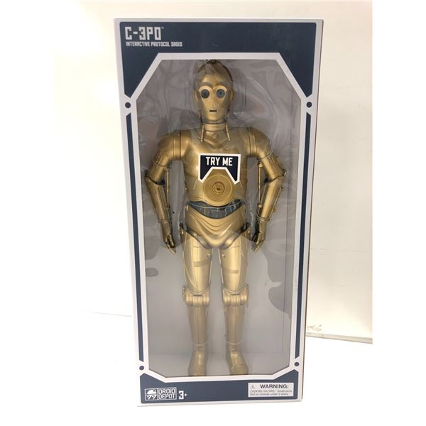 Star Wars Galaxy's Edge C-3PO interactive protocol droid 20in action figure in original box