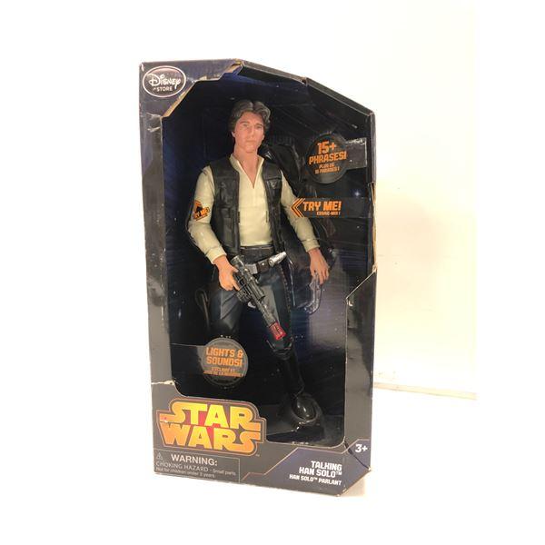 Disney Star Wars talking Han Solo action figure in original box