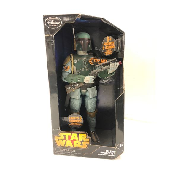 Disney Star Wars talking Boba Fett action figure in original box