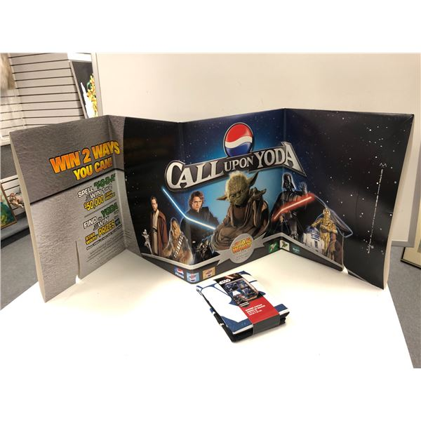 Folding cardboard display Star Wars episode 3 advertising & Star Wars shower curtain