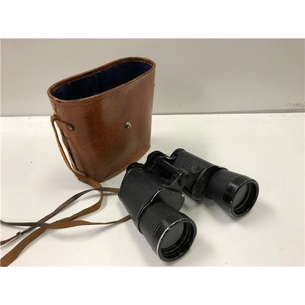 Pair of Excelsior binoculars w/ leather case