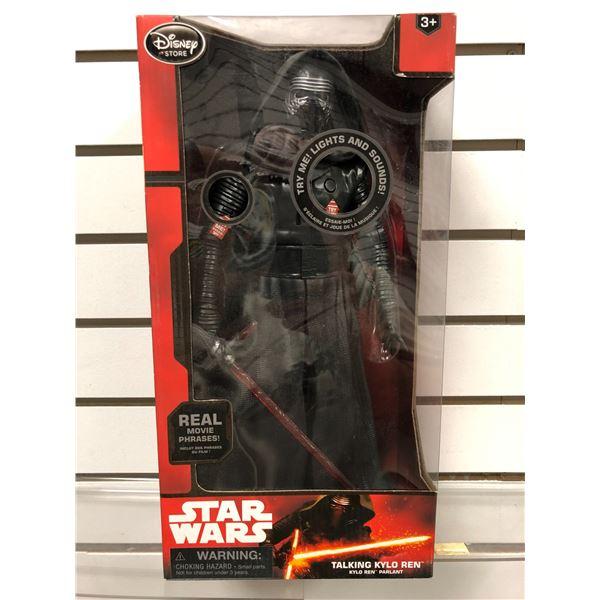 "Disney Star Wars ""The Force Awakens"" Talking Kylo Ren action figure (new in box)"