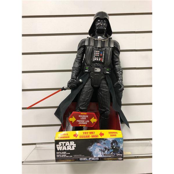 Disney Star Wars Darth Vader w/ lightsaber action 20in action figure (Jakks Pacific new in box)