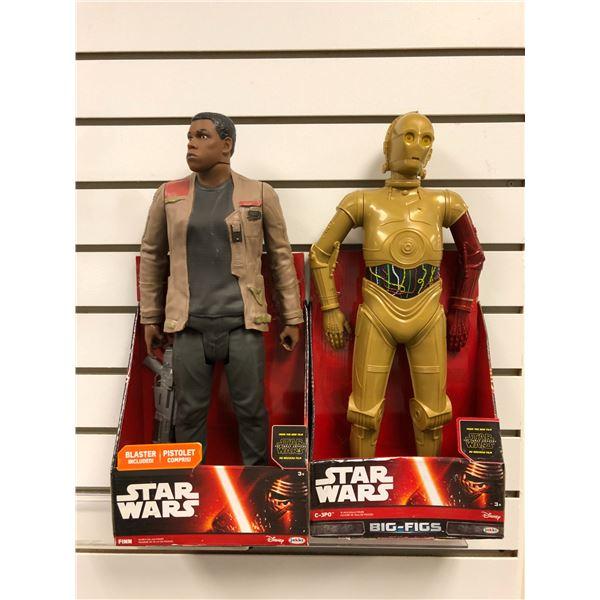 Two Disney Star Wars The Force Awakens 18in action figures - Finn & C-3PO (Jakks Pacific new in box)