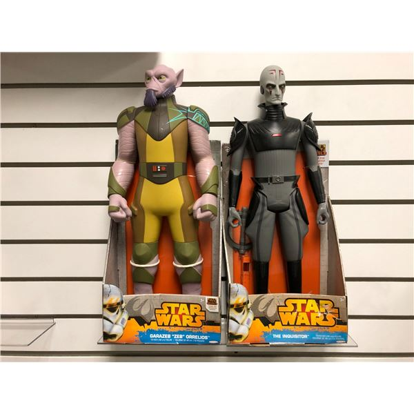 """Two Disney Star Wars from the animated series 19in action figures - Garazeb """"Zeb"""" Orrelios & The Inq"""