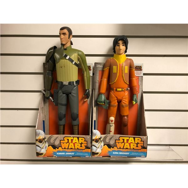 Two Disney Star Wars from the animated series 18in/19in action figures - Kanan Jarrus & Ezra Bridger