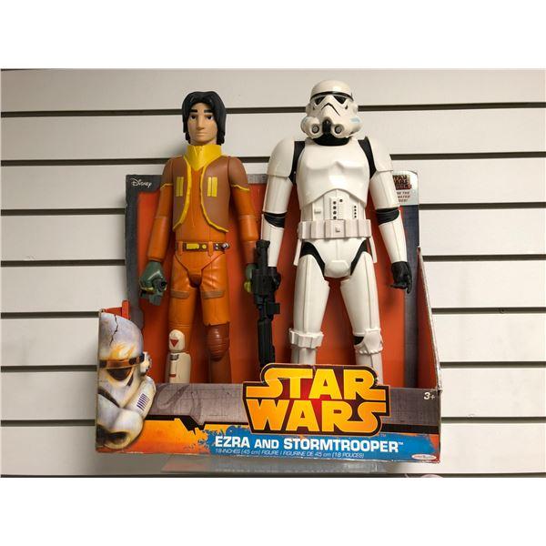 Disney Star Wars from the animated series 18in action figure set - Ezra & Stormtrooper (Jakks Pacifi