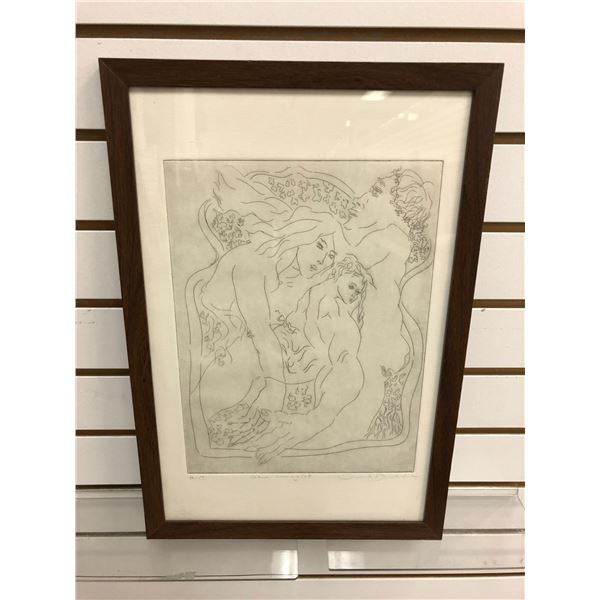 """Framed artist proof lithograph titled """"The Imagist"""" signed by artist bottom right corner approx. 9in"""