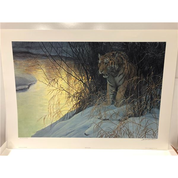 """Robert Bateman limited edition print """"Siberian Tiger"""" #2375/4500 signed by artist - comes w/ COA"""