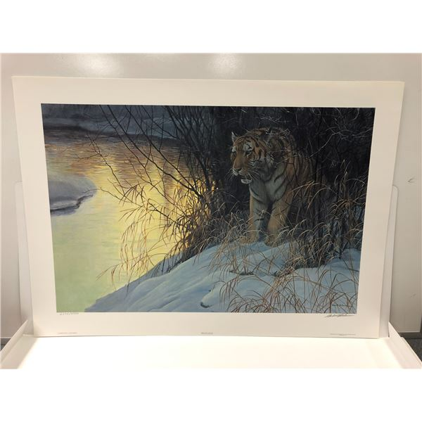 """Robert Bateman limited edition print """"Siberian Tiger"""" #2374/4500 signed by artist - comes w/ COA"""