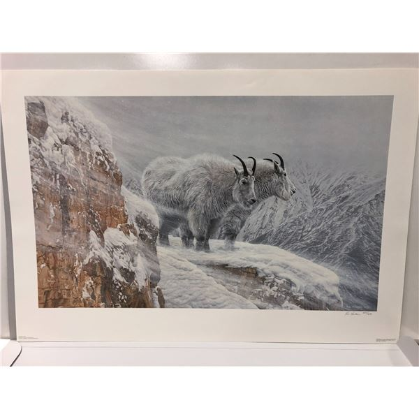 """Ron Parker limited edition print """"Winter's Fury"""" #287/650 signed by artist - comes w/ COA"""