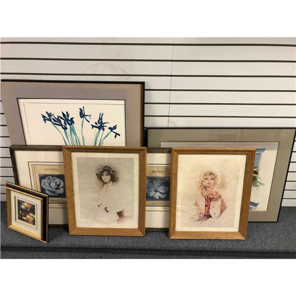 Group of 7 assorted framed prints