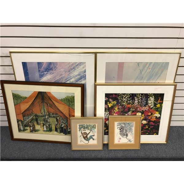 Group of 6 assorted frame prints