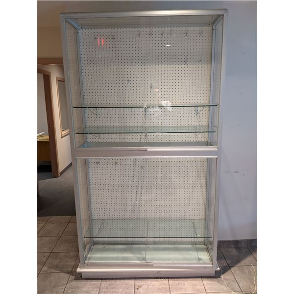 Large plexiglass display cabinet - approx. 7ft x 4ft x 1ft wide