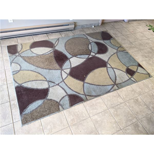 Korhani contemporary area rug (needs cleaning) - approx. 8ft x 5 1/2ft