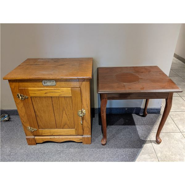 Two small end tables