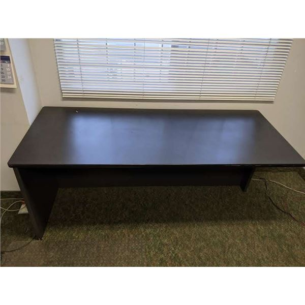 Grey contemporary office desk -  approx. 6 1/2ft x 3ft