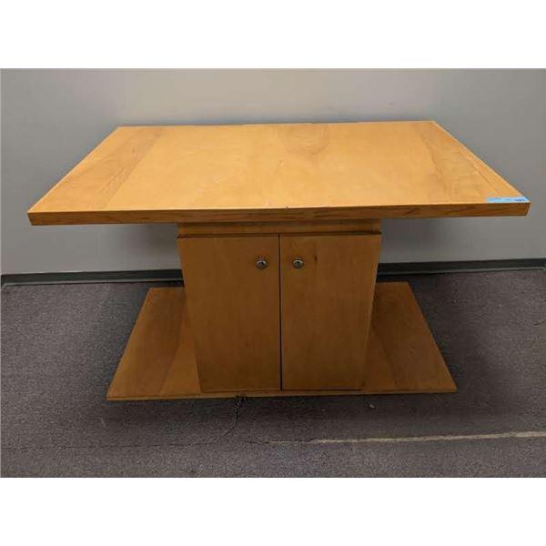 Display table w/ bottom storage