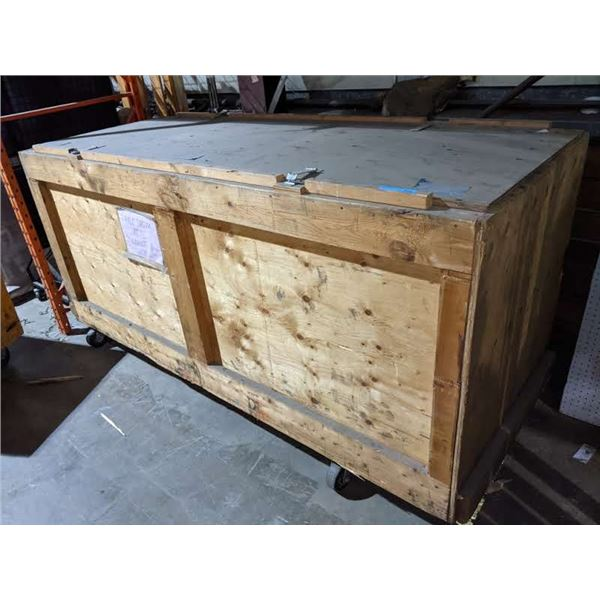 Approx. 4ft x 9ft rolling wooden storage crate