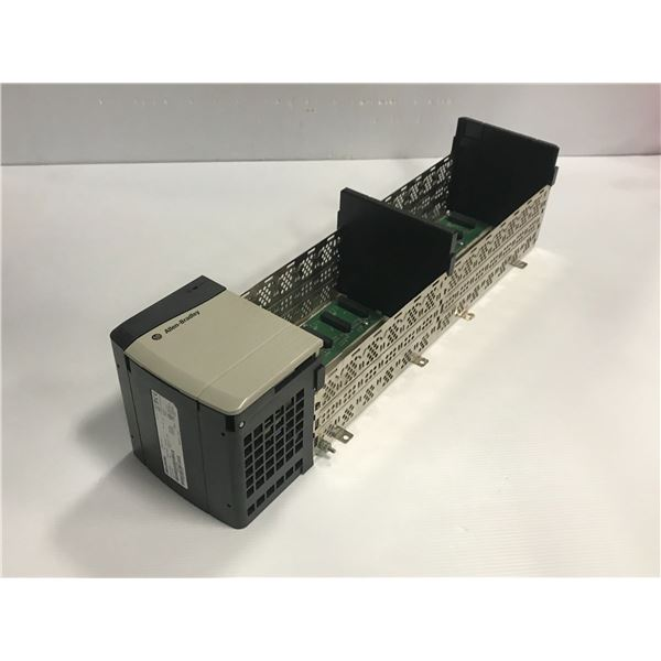 ALLEN BRADLEY 1756-A13 13 SLOT CHASSIS W/ 1756-PA75 POWER SUPPLY