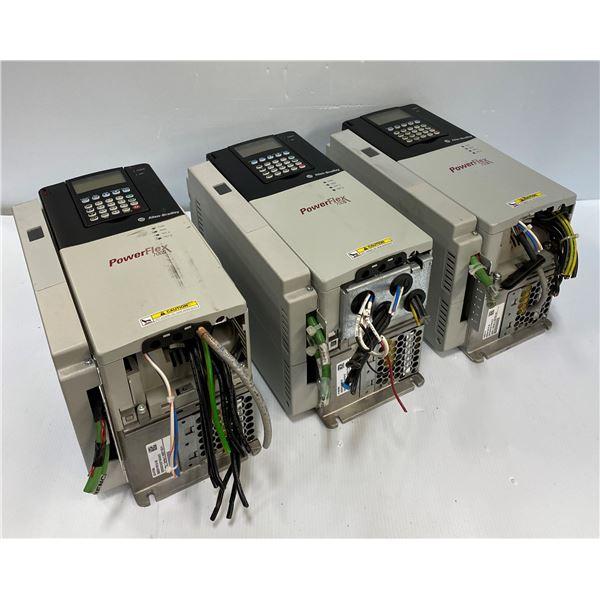 (3) Allen Bradley 20D D 022 A 3 EYNADACE Power Flex 700