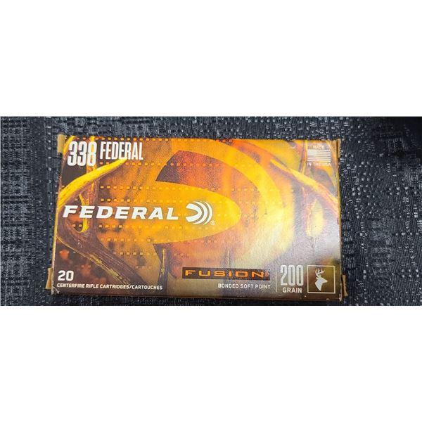 FEDERAL FUSION .338 200 GRAIN BONDED SOFT TIP