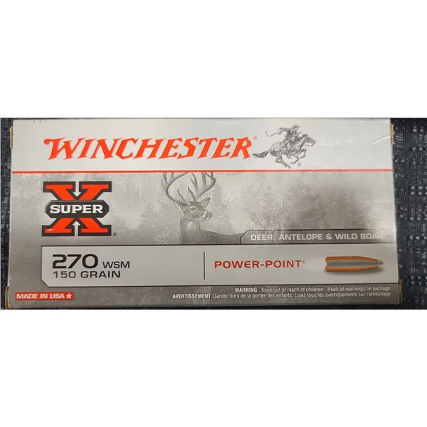 WINCHESTER SUPER X .270 WSM 150 GRAIN POWER POINT