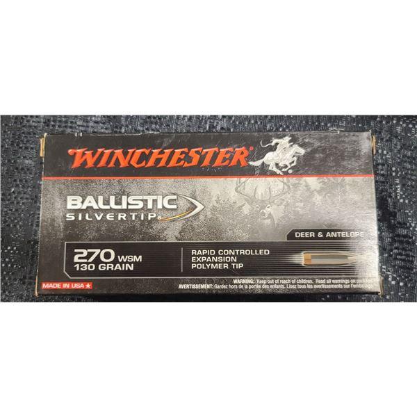 WINCHESTER BALLISTIC SILVERTIP .270 WSM 130 GRAIN