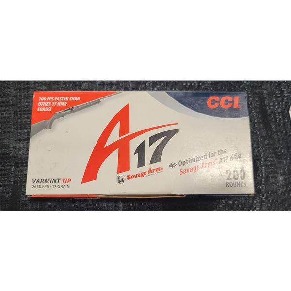CCI A-17 HMR VARMIT TIP 2650FPS 17 GRAIN 200 ROUNDS