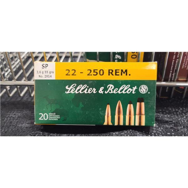 SELLIER & BELLOT SP .22-250 REM, 55GRAIN