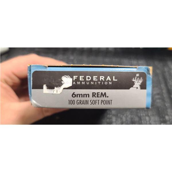 FEDERAL 6MM REM 100GRAIN SOFT POINT