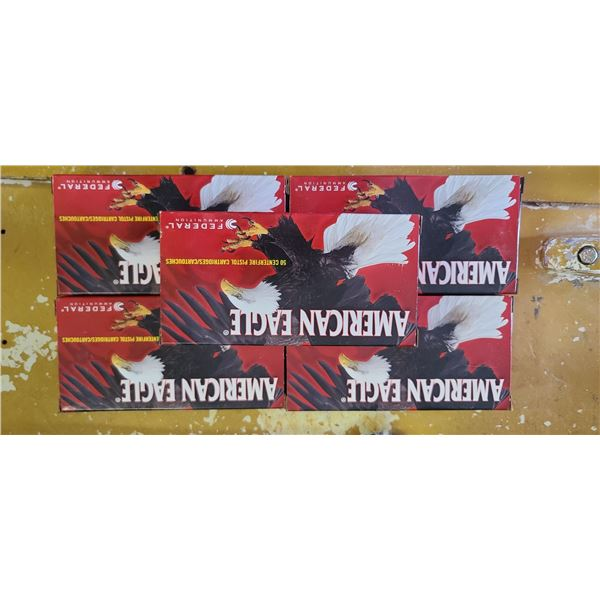 250 ROUNDS OF .45 AUT AMERICAN EAGLE, 230GR FMJ HANDGUN (5 BOXES OF 50)