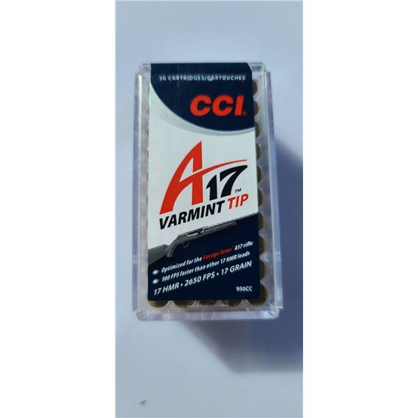 CCI A-17 VARMINT TIP 17HMR 2650 PFS 17GR 50 ROUNDS