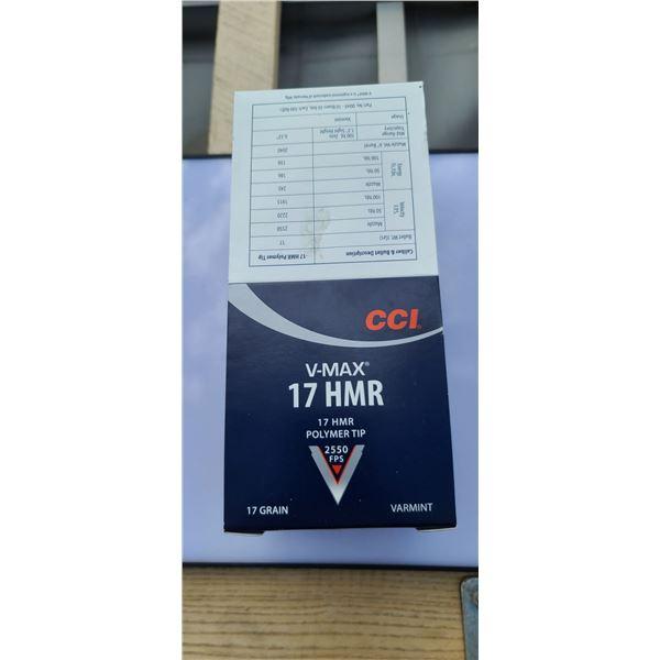 500 ROUNDS OF CCI 17 HMR V-MAX 2550 FPS POLYMER TIP (10 BOXES OF 50RNDS)