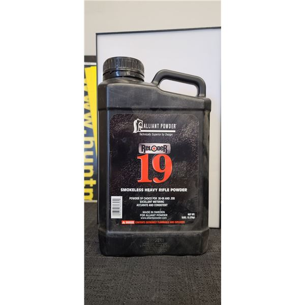 ALLIANT POWDER RELODER 19. 5LBS SMOKELESS HEAVEY POWDER FOR 30-06 AND 338