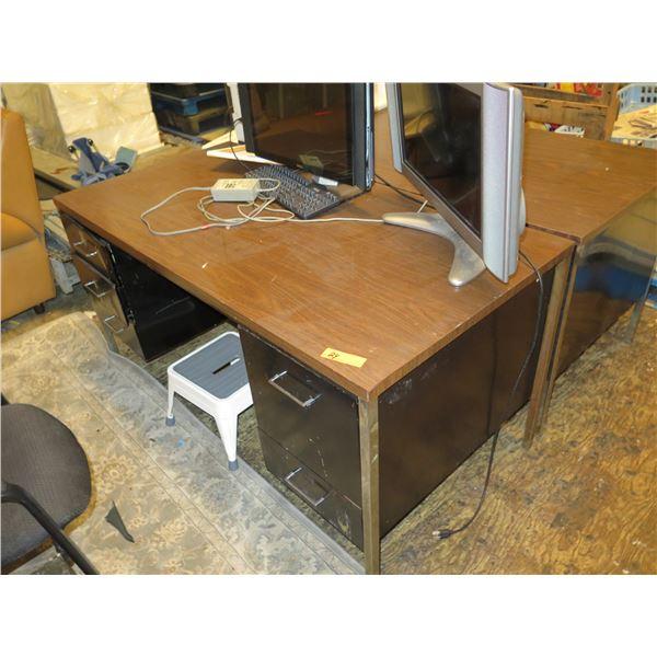 Qty 2 Metal Desks