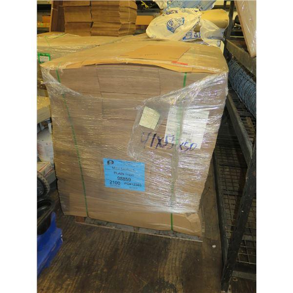 "Qty 3 Pallets of Unused Cardboard ""Plain Trays"""
