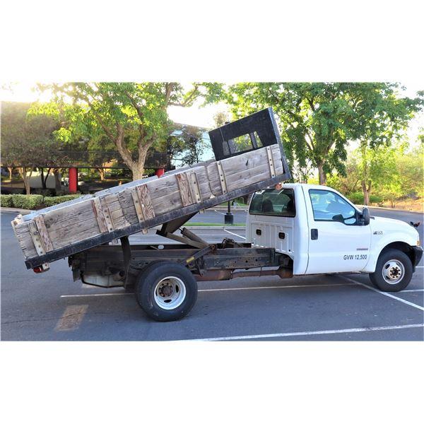 2004 Ford F350 Tilting Bed Dump Truck (Starts & Runs), Lic. 433TRG