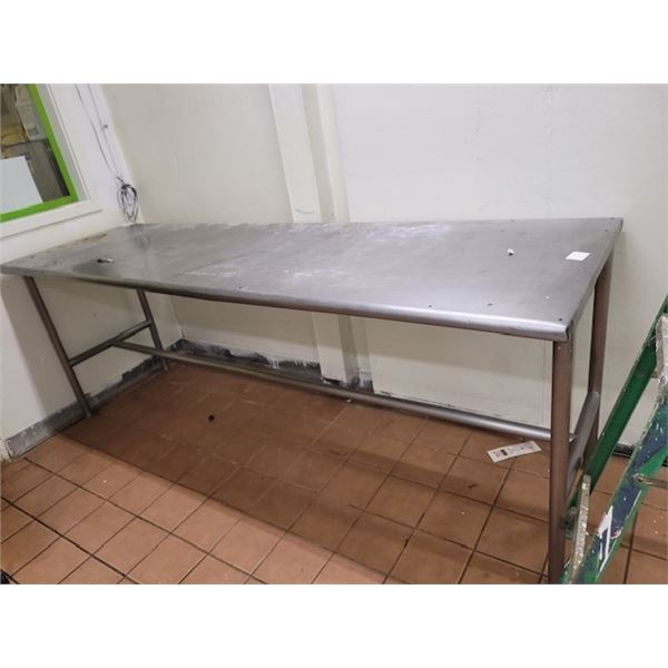 Long Metal Prep Table