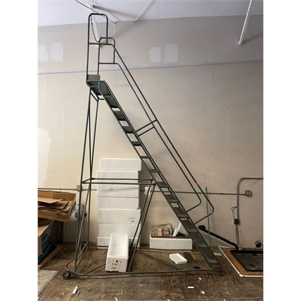 Tall Rolling Warehouse Ladder