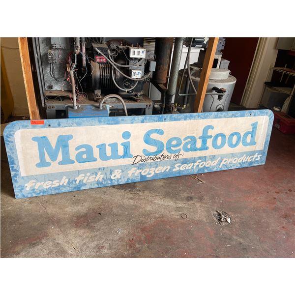 Maui Seafood Sign