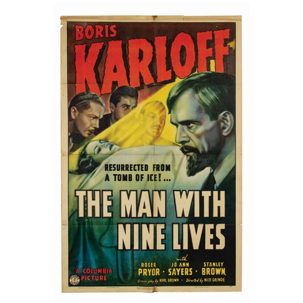 The Man with Nine Lives 1-Sheet Poster.
