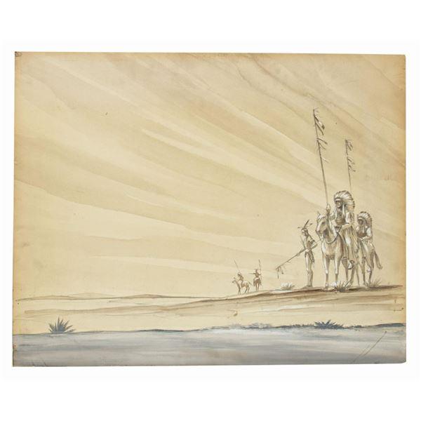 Badman's Territory Title Background Artwork.