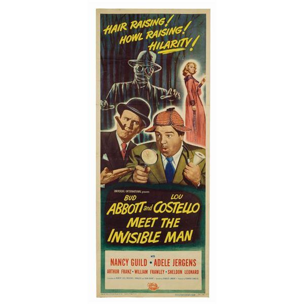 Abbott & Costello Meet the Invisible Man Insert Poster.