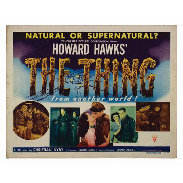 The Thing from Another World Half-Sheet Poster.